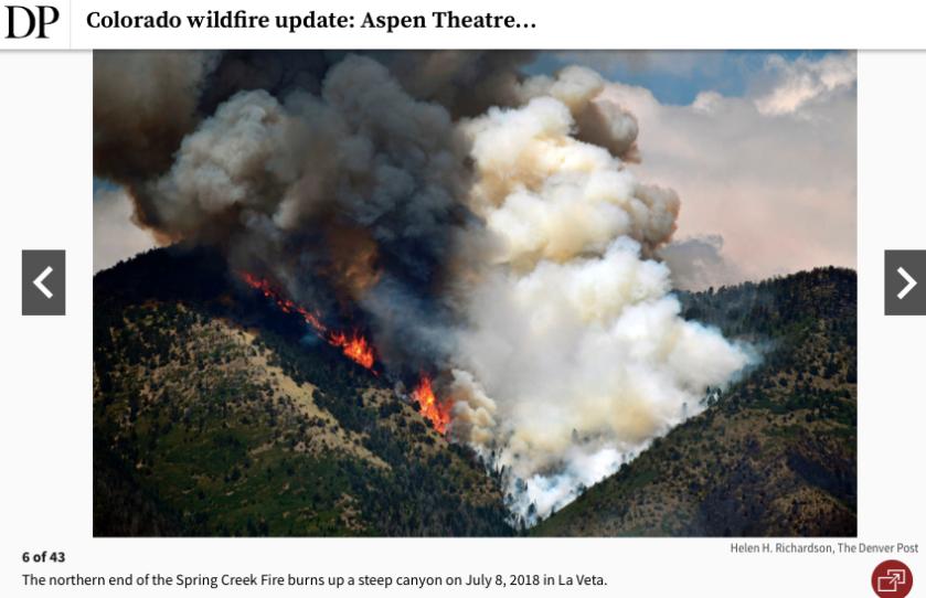 Aspen CO wildfire